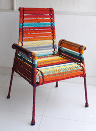High Back Stork Chair in California Sunset Furniture By Sahil & Sarthak