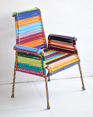 High Back Stock Chair in Multicolor Bold Furniture By Sahil & Sarthak