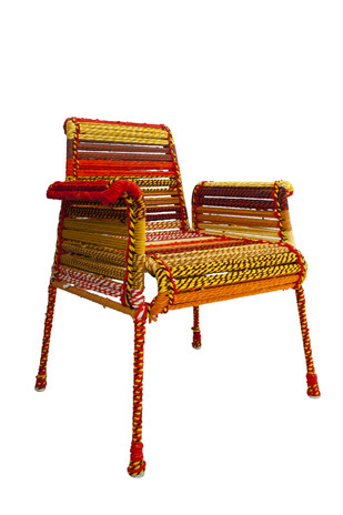 Stock Chair in Orange Furniture By Sahil & Sarthak