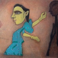 002  jai zharotia mixed media on paper 14 x 20 ins 2001