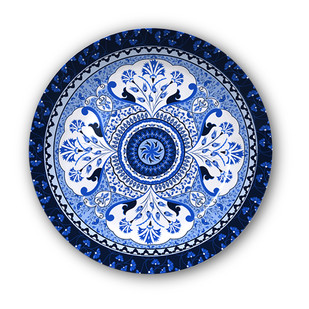 "Pristine Turkish Decorative Plate 10"" Wall Decor By Kolorobia"