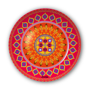 "Dazzling Ikat Decorative Plate 10"" Wall Decor By Kolorobia"