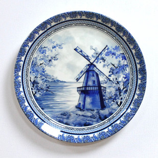 Kolorobia Delftware Dutch Blue Pottery Inspired Home Decor Wall Plate Wall Decor By Kolorobia