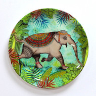 Kolorobia Sri Lankan Tropical Rainforest Wildlife Elephant Inspired Home Décor Wall Plate Wall Decor By Kolorobia