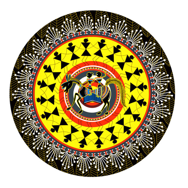 Rustic Warli Decorative Plate Wall Decor By Kolorobia