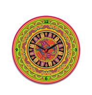 "Truck Art Glass Clock 10"" Clock By Kolorobia"
