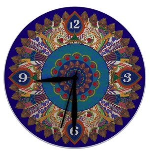 "Egyptian Tranquility Glass Clock 16"" Clock By Kolorobia"