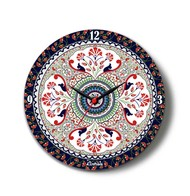 "Turkish Fervor Glass Clock 10"" Clock By Kolorobia"