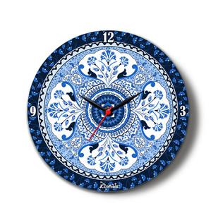 "Pristine Turkish Glass Clock 10"" Clock By Kolorobia"
