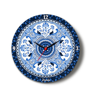 "Pristine Turkish Glass Clock 16"" Clock By Kolorobia"