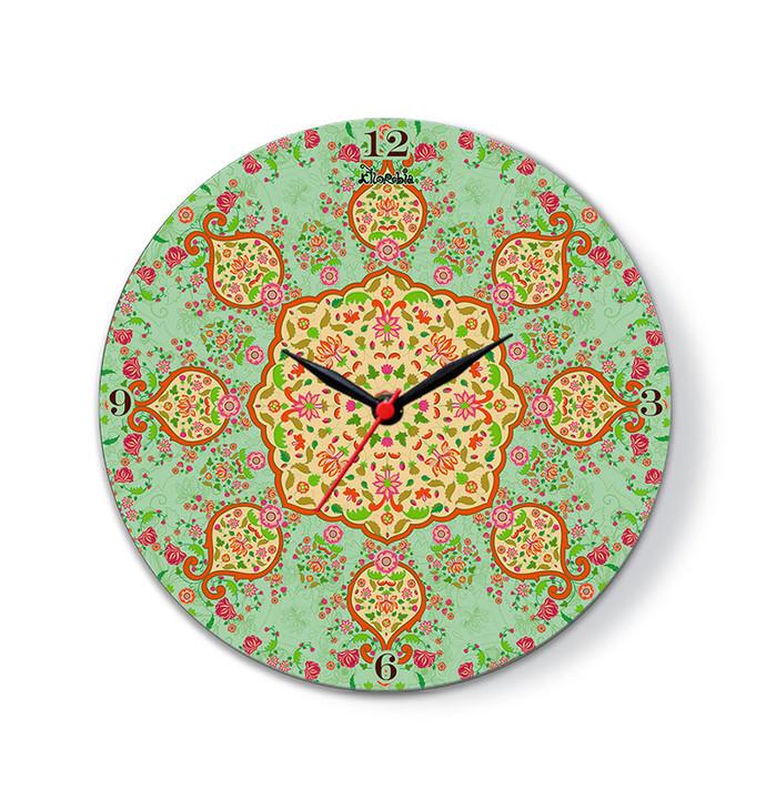 """Ornate Mughal Glass Clock 10"""" Clock By Kolorobia"""