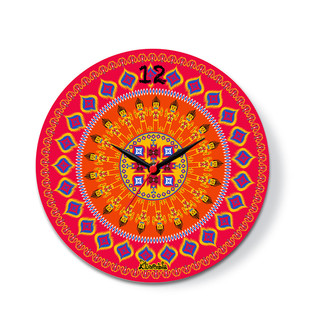 "Dazzling Ikat Glass Clock 10"" Clock By Kolorobia"