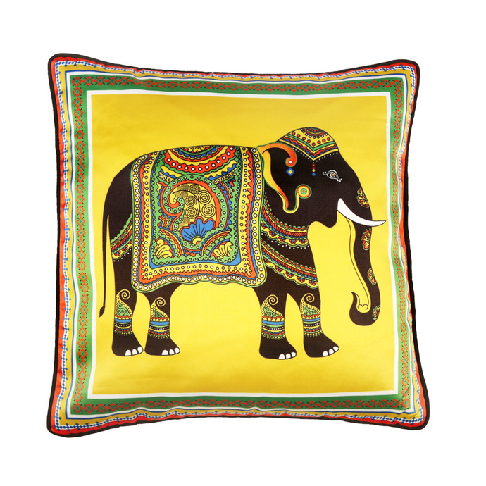 Elephant Majesty Cushion Cover Cushion Cover By Kolorobia