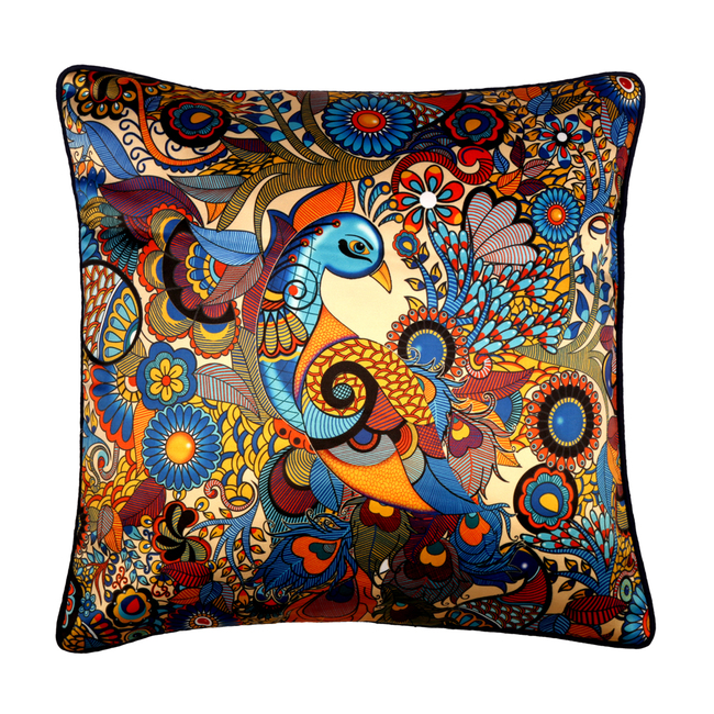 Peacock Admiration Cushion Cover Cushion Cover By Kolorobia