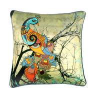 Charismatic Peacock Cushion Cover Cushion Cover By Kolorobia
