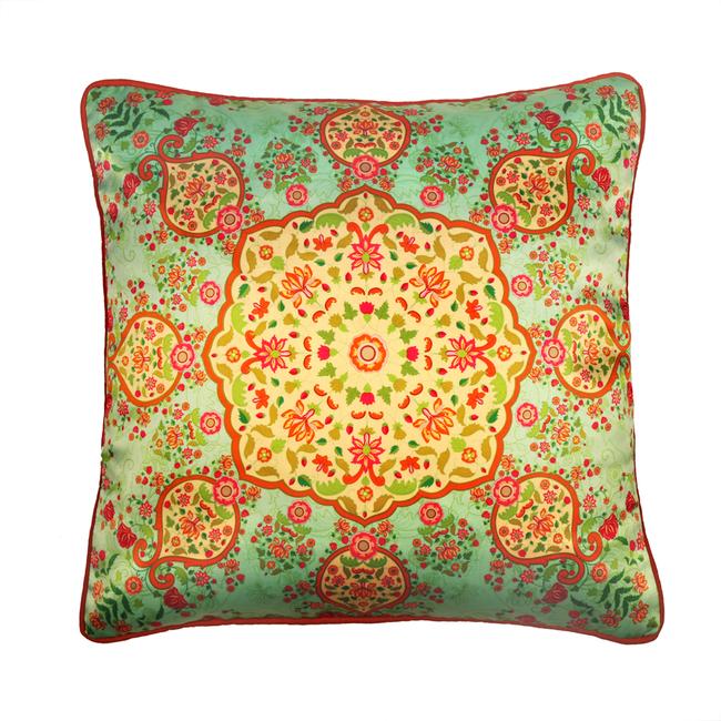 Ornate Mughal Cushion Cover Cushion Cover By Kolorobia