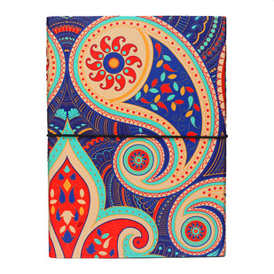 Majestic Paisley A5 Journal Notebook By Kolorobia