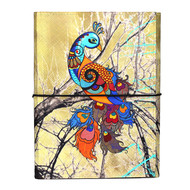 Charismatic Peacock A5 Journal Notebook By Kolorobia