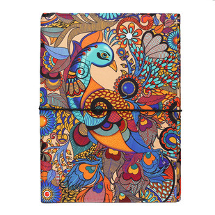 Peacock Admiration A5 Journal Notebook By Kolorobia