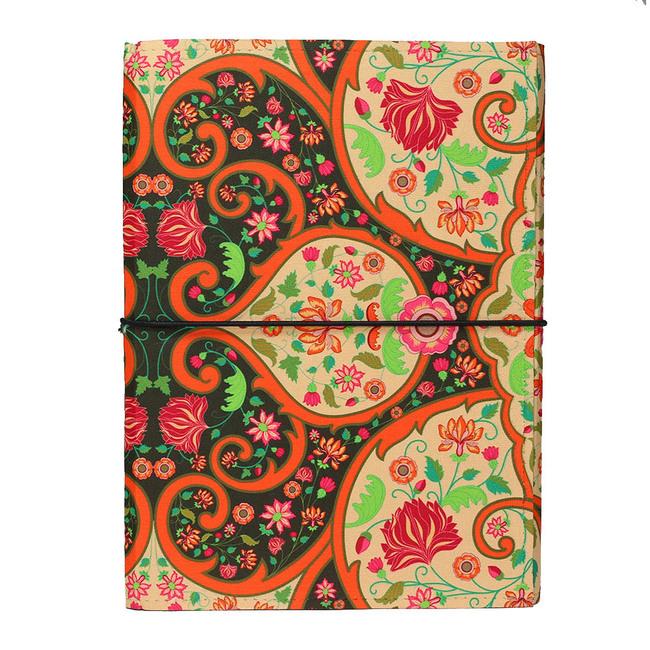 Mughal Blooms A5 Journal Notebook By Kolorobia