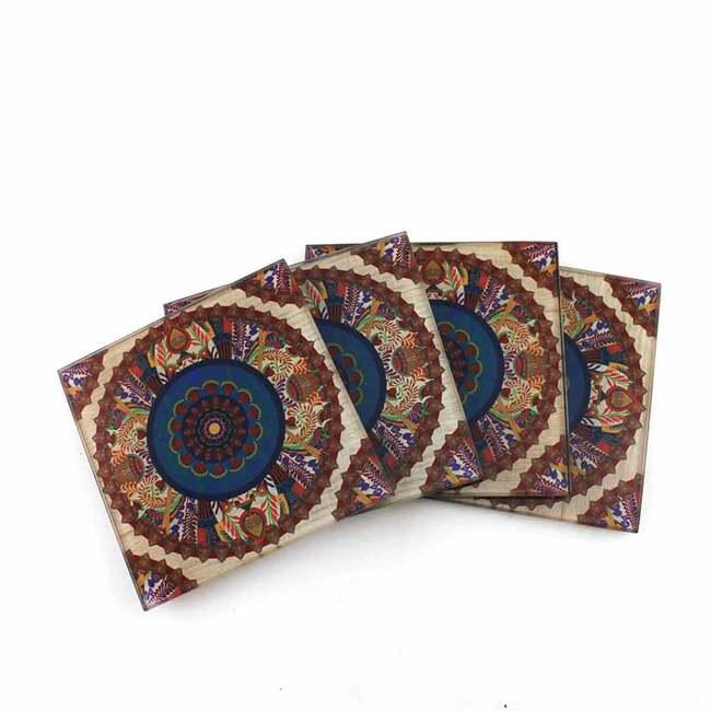 Sylvan Egyptian Wooden Coaster Coaster Set By Kolorobia