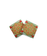Ornate Mughal Wooden Coasters Coaster Set By Kolorobia