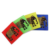 Elephant Majesty Wooden Coasters Coaster Set By Kolorobia