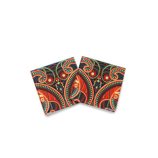 Majestic Paisley Wooden Coasters Coaster Set By Kolorobia