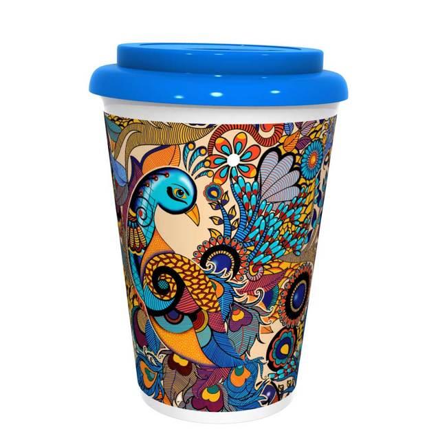 Peacock Admiration Coffee Mug Coffee Mug By Kolorobia
