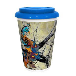 Charismatic Peacock CoffeeMug Coffee Mug By Kolorobia