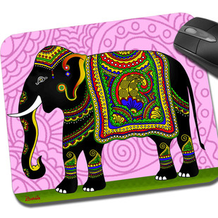 Elephant Majesty Mouse Pad Mousepad By Kolorobia