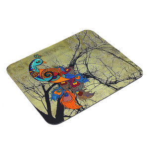 Charismatic Peacock Mouse Pad Mousepad By Kolorobia