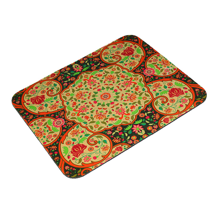 Mughal Blooms Art Mouse Pad Mousepad By Kolorobia
