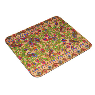 Kalamkari Finesse Art Mouse Pad Cushion Cover By Kolorobia