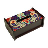 Majestic Paisley Tissue Box Tissue Box By Kolorobia