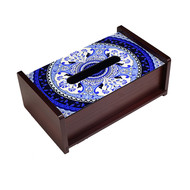 Pristine Turkish Blue Tissue Box Tissue Box By Kolorobia