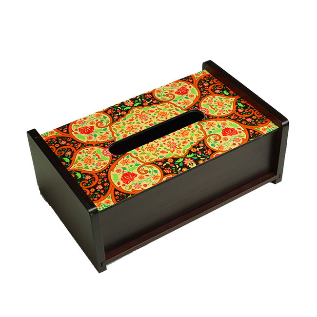 Mughal Blooms Tissue Box Tissue Box By Kolorobia