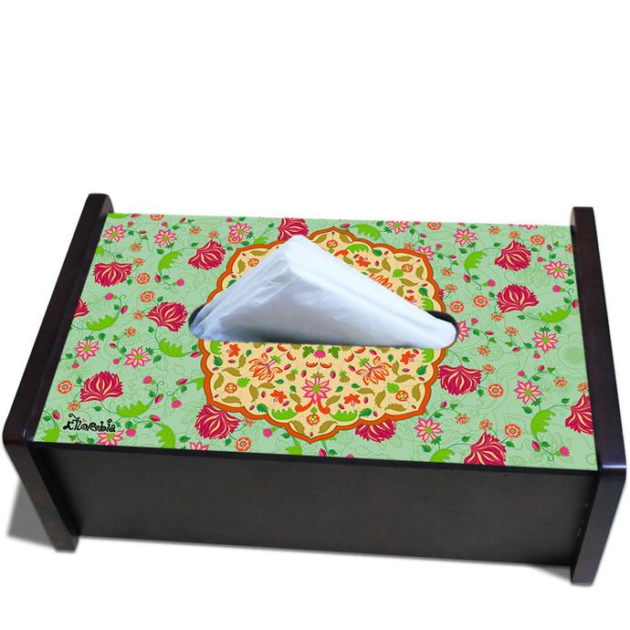 Ornate Mughal Tissue Box Tissue Box By Kolorobia
