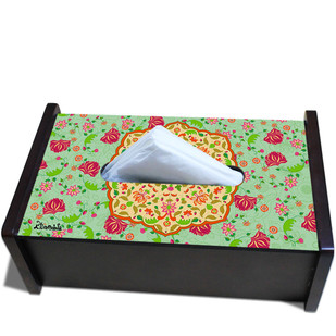 Ornate Mughal Tissue Box Tissue Box By Kolorobia