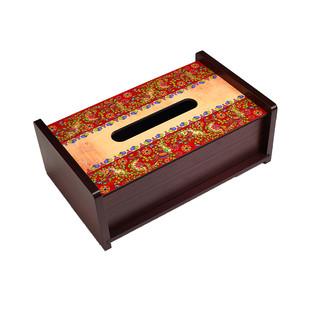 Kalamkari Finesse Tissue Box Tissue Box By Kolorobia