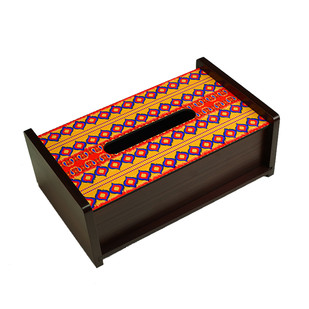 Dazzling Ikat Tissue Box Tissue Box By Kolorobia