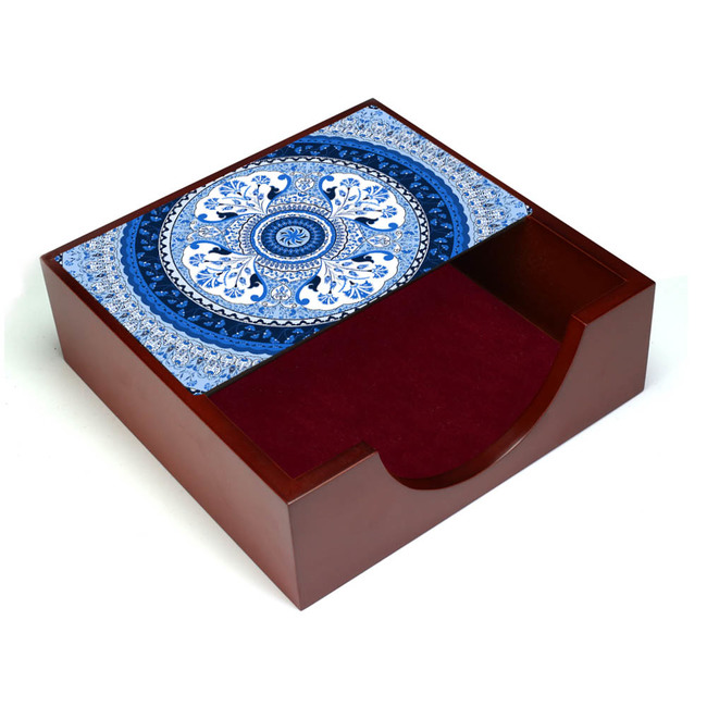 Pristine Turkish Blue Napkin Box Tissue Box By Kolorobia