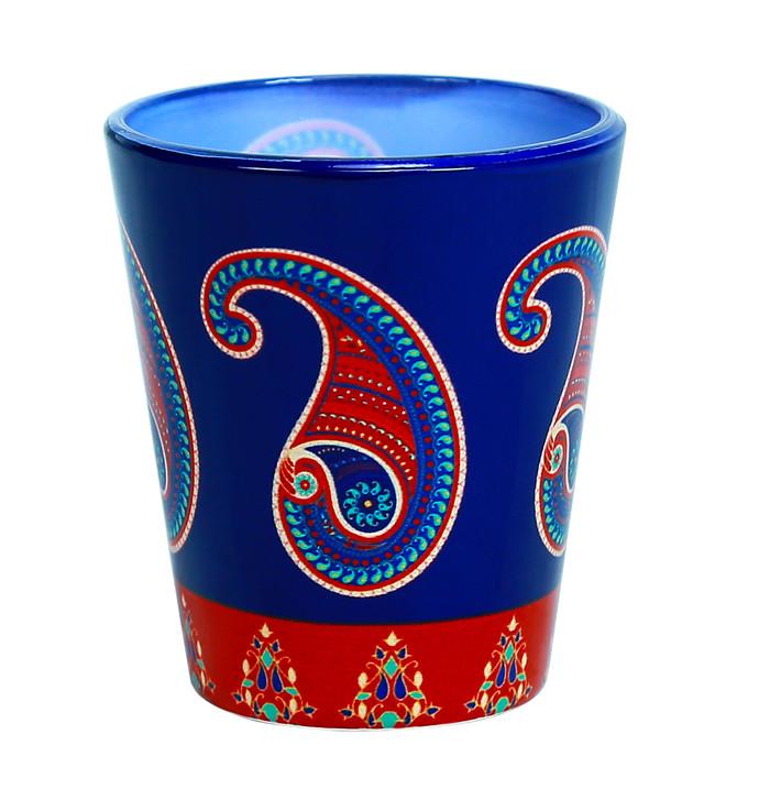 Majestic Paisley Shot Glass Serveware By Kolorobia