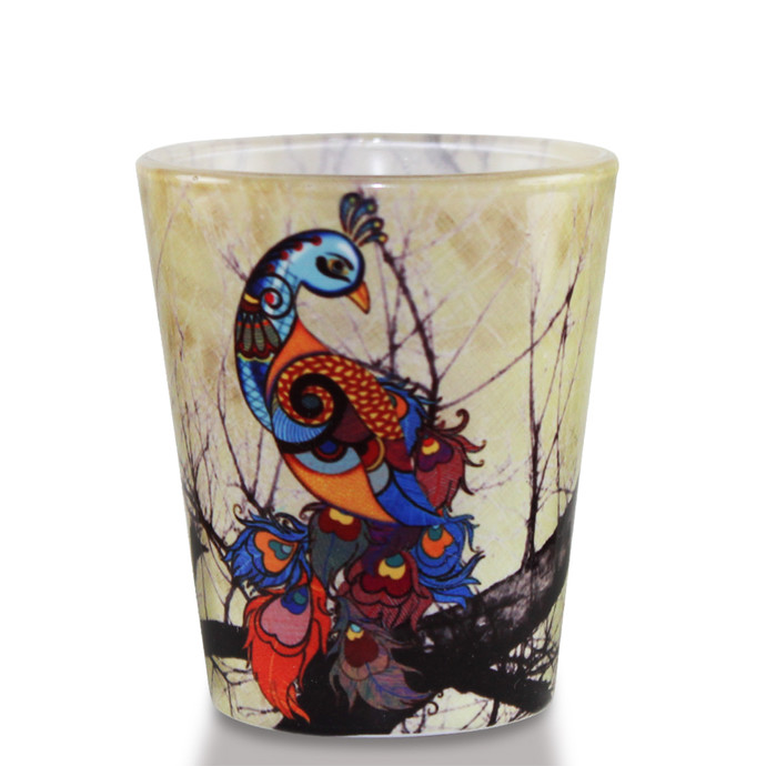 Charismatic Peacock Shot Glass Serveware By Kolorobia