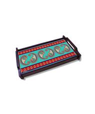 Majestic Paisley Large Wooden Tray Serveware By Kolorobia