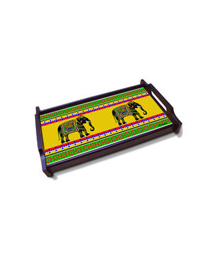 Elephant Majesty Medium Wooden Tray Serveware By Kolorobia
