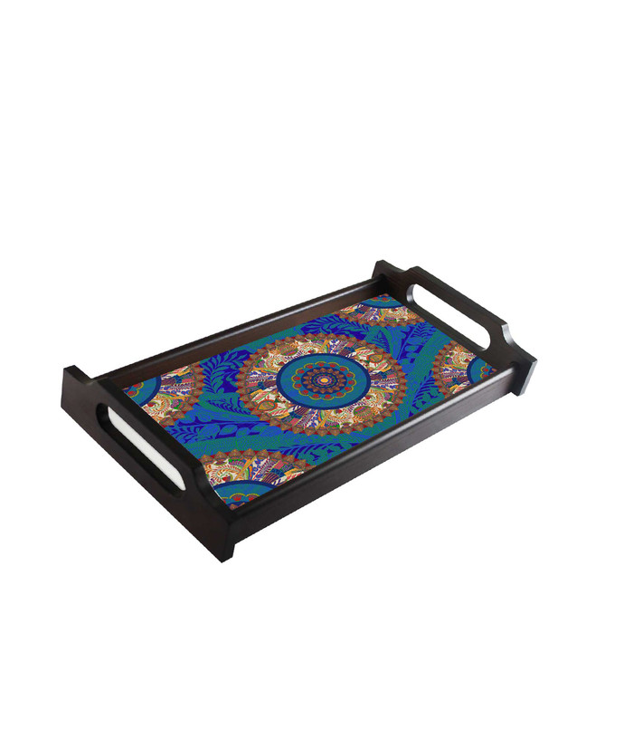 Egyptian Tranquility Medium Wooden Tray Accessories By Kolorobia