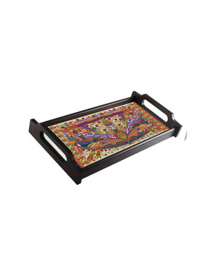 Sylvan Egyptian Small Wooden Tray Tray By Kolorobia