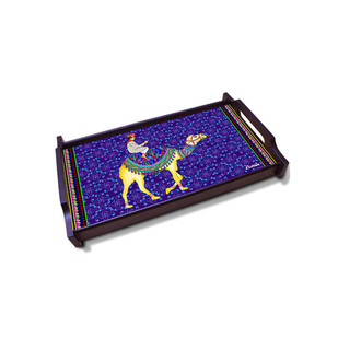 Camel Glory Small Wooden Tray Tray By Kolorobia