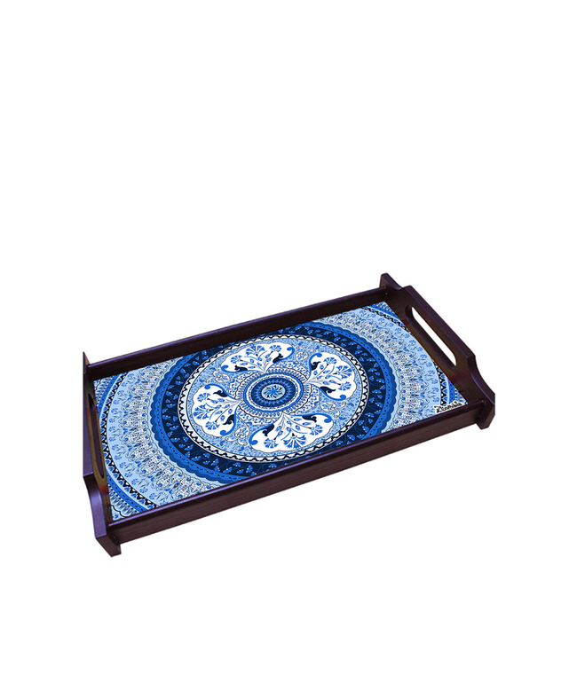 Pristine Turkish Medium Wooden Tray Tray By Kolorobia